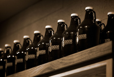 Growlers - $4 empty.  $12 refilled.